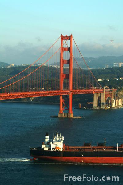 Picture of The Golden Gate Bridge, San Francisco, California - Free Pictures - FreeFoto.com