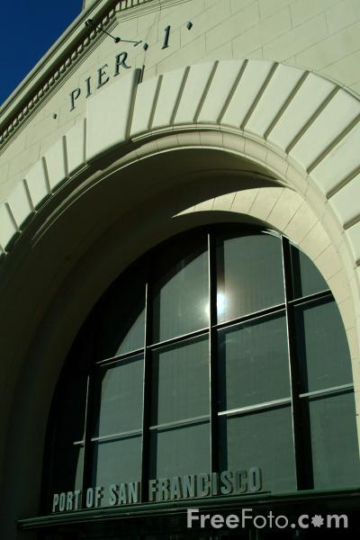 Picture of Pier 1, Port of San Francisco Maritime Office Building, California - Free Pictures - FreeFoto.com