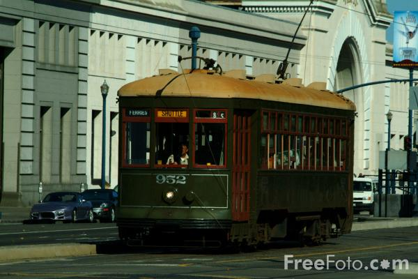 Picture of F-line Car 952, New Orleans streetcar named Desire, San Francisco, California - Free Pictures - FreeFoto.com