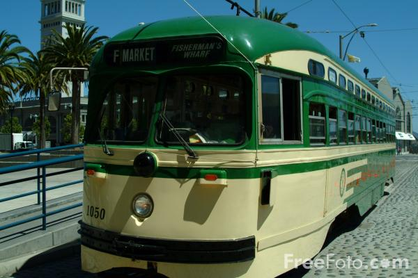 Picture of San Francisco Municipal Railway Streetcar, San Francisco, California - Free Pictures - FreeFoto.com
