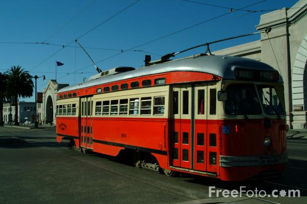 Picture of Car 1059 Boston Elevated Railway Co, San Francisco, California - Free Pictures - FreeFoto.com