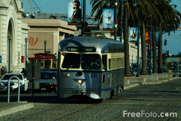 Picture of Car 1054 Philadelphia Transportation Co, San Francisco, California - Free Pictures - FreeFoto.com