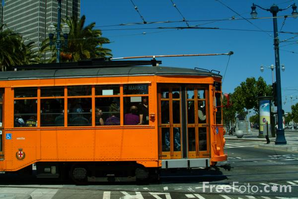 Picture of F-line Milan Peter Witt Tram, San Francisco, California - Free Pictures - FreeFoto.com