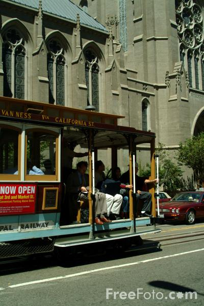 Picture of San Francisco Cable Car, San Francisco, California - Free Pictures - FreeFoto.com