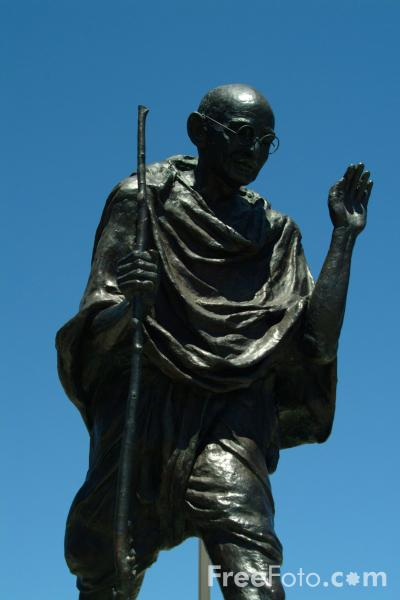 Picture of Gandhi Statue,  San Francisco, California - Free Pictures - FreeFoto.com