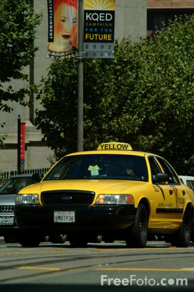 Picture of San Francisco Taxicabs,  San Francisco, California - Free Pictures - FreeFoto.com