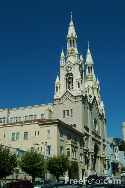 Picture of Saints Peter and Paul Church, San Francisco, California - Free Pictures - FreeFoto.com