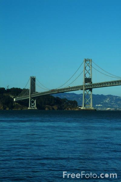 Picture of Oakland Bay Bridge,  San Francisco, California - Free Pictures - FreeFoto.com
