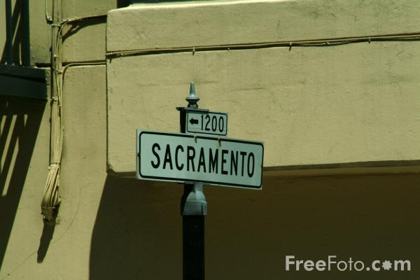 Picture of Sacramento Street,  San Francisco, California - Free Pictures - FreeFoto.com