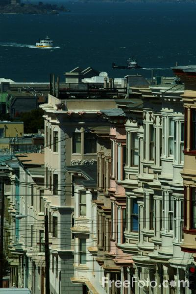 Picture of North Beach District,  San Francisco, California - Free Pictures - FreeFoto.com