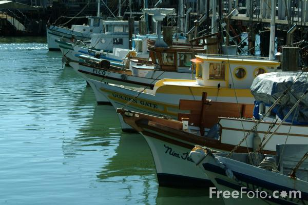 Picture of Fisherman's Wharf, San Francisco, California - Free Pictures - FreeFoto.com