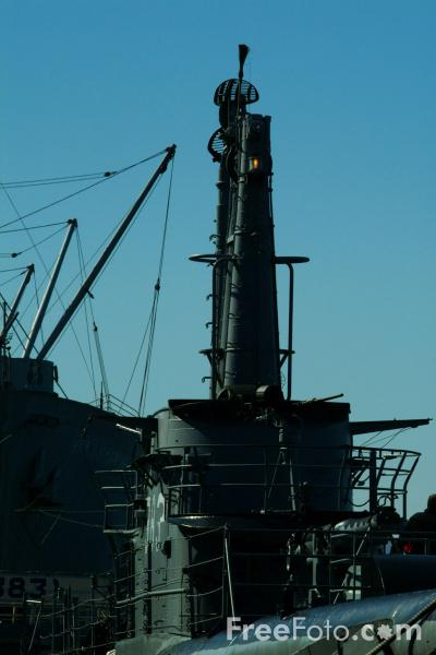 Picture of USS Pampanito (SS-383), San Francisco, California - Free Pictures - FreeFoto.com