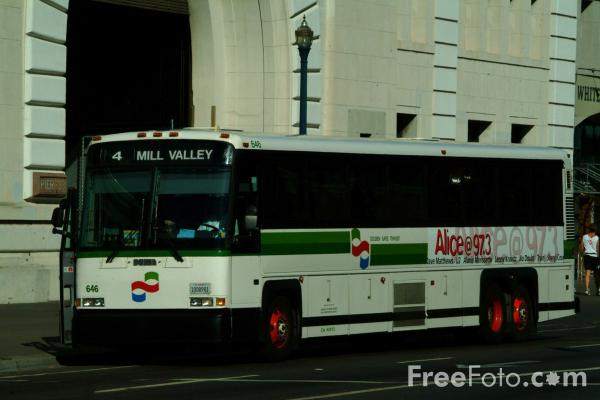 Picture of Golden Gate Transit Bus, San Francisco, California - Free Pictures - FreeFoto.com