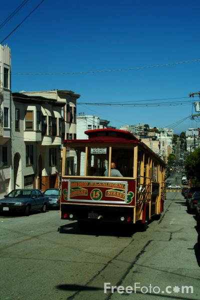 Picture of San Francisco Cable Cars, San Francisco, California - Free Pictures - FreeFoto.com