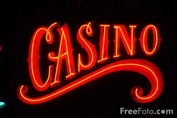 Picture of Casino Neon Sign, Las Vegas at Night, Nevada, USA - Free Pictures - FreeFoto.com
