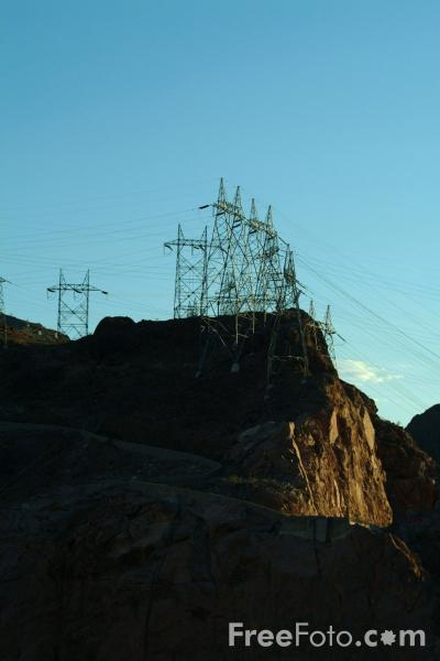 Picture of Power Lines, Hoover Dam, Nevada, USA - Free Pictures - FreeFoto.com