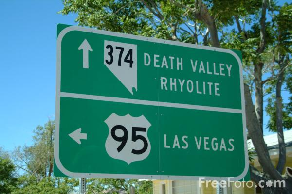 Picture of Road Sign, Beatty, Nevada, USA - Free Pictures - FreeFoto.com