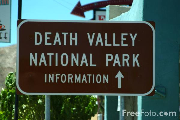 Picture of Death Valley National Park Sign, Beatty, Nevada, USA - Free Pictures - FreeFoto.com