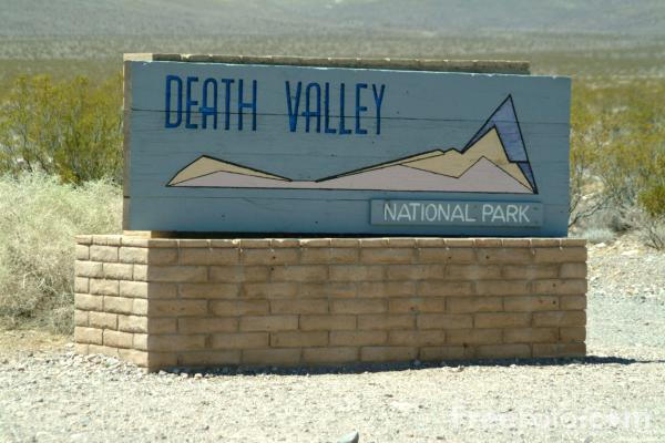 Picture of Death Valley National Park Sign, Route 374, Nevada, USA - Free Pictures - FreeFoto.com