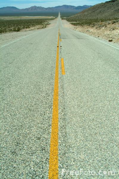 Straight Road, Route 374, Nevada, USA pictures, free use