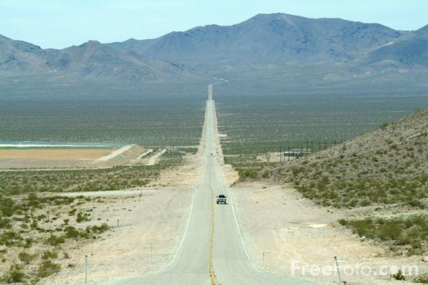 Picture of Straight Road, Route 374, Nevada, USA - Free Pictures - FreeFoto.com