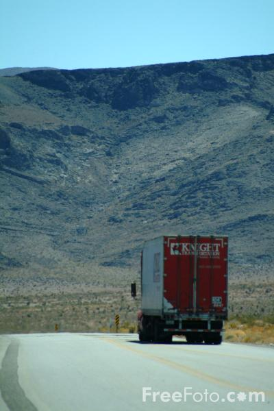 Picture of Truck, Route 95, Nevada, USA - Free Pictures - FreeFoto.com