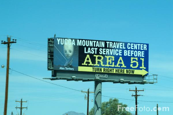 Picture of Area 51 Advert, Amargosa Valley, Nevada, USA - Free Pictures - FreeFoto.com
