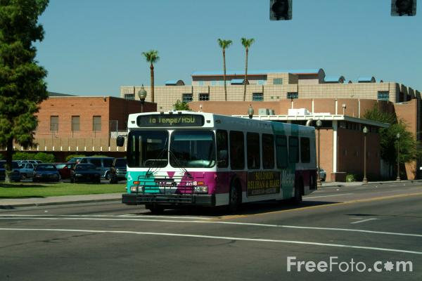 Picture of Tempe Valley Metro Bus, Tempe, Arizona, USA - Free Pictures - FreeFoto.com