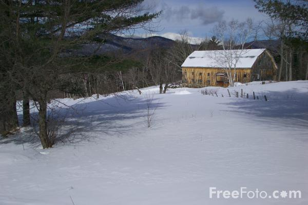 Picture of Winter Scene, Jackson, New Hampshire, USA - Free Pictures - FreeFoto.com