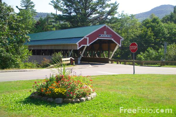 Picture of Covered Bridge, Jackson, New Hampshire, USA - Free Pictures - FreeFoto.com