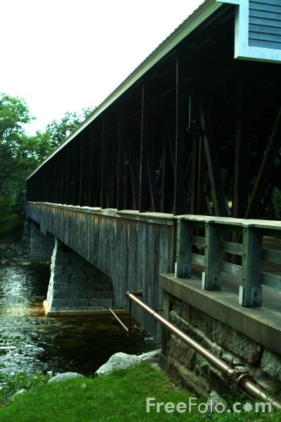 Picture of Saco River Covered Bridge, Conway, New Hampshire, USA - Free Pictures - FreeFoto.com
