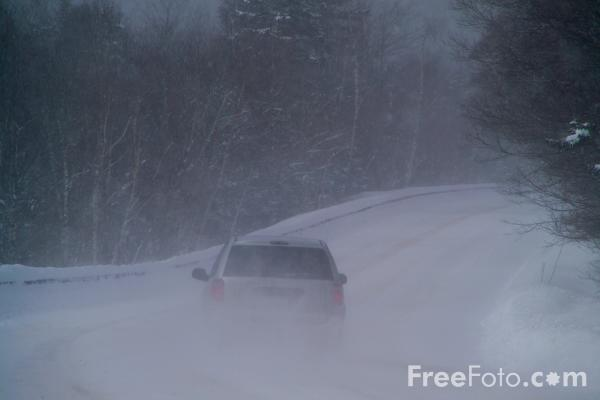 Picture of Kancamagus Highway, New Hampshire, USA in the snow - Free Pictures - FreeFoto.com