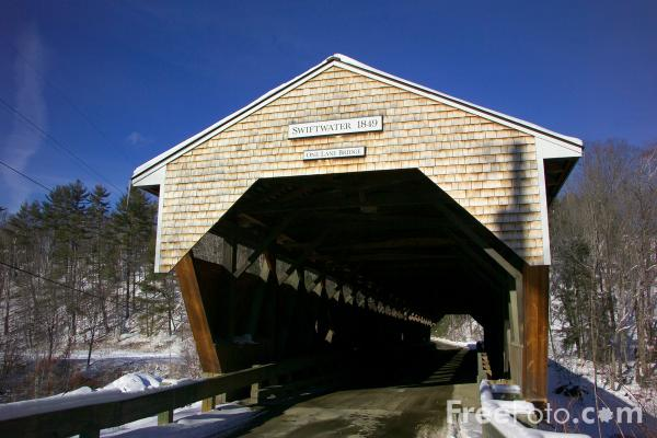 Picture of Swiftwater Covered Bridge,  New Hampshire, USA - Free Pictures - FreeFoto.com