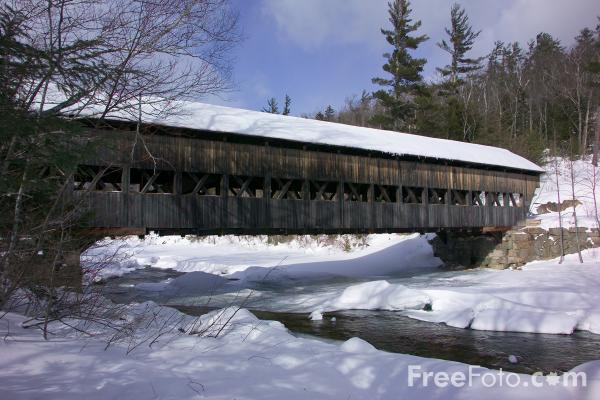 Picture of Albany Bridge, Kancamagus Highway, New Hampshire, USA - Free Pictures - FreeFoto.com