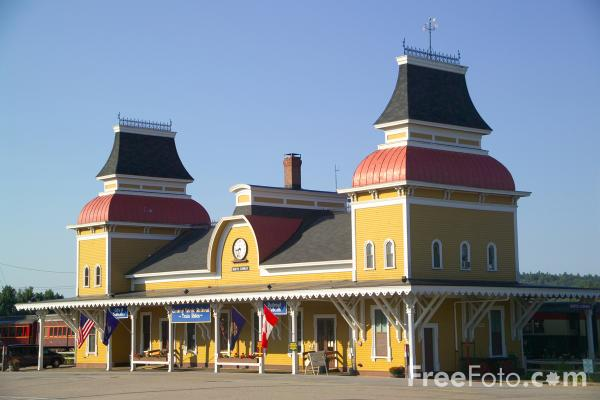 Picture of Railroad Station, North Conway, New Hampshire, USA - Free Pictures - FreeFoto.com