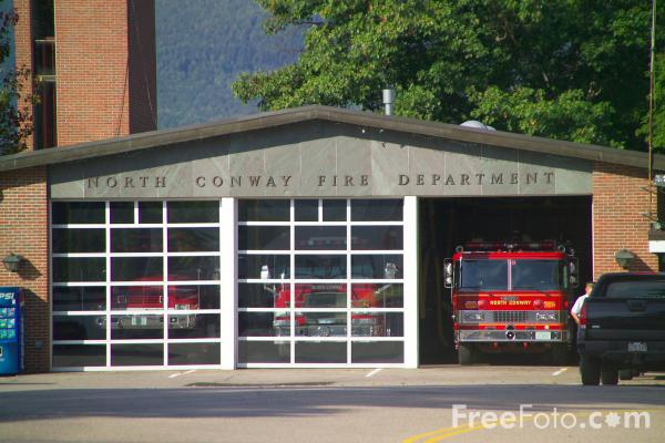 Picture of Fire House, North Conway, New Hampshire, USA - Free Pictures - FreeFoto.com