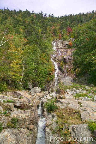 Picture of Silver Cascades Waterfall, Crawford Notch, New Hampshire, USA - Free Pictures - FreeFoto.com