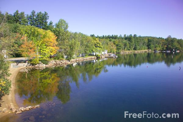 Picture of Little Squam Lake, New Hampshire, USA - Free Pictures - FreeFoto.com