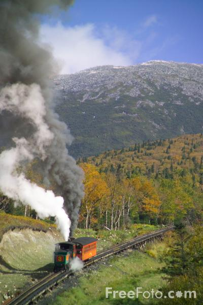 Picture of Mount Washington Cog Railway, New Hampshire, USA - Free Pictures - FreeFoto.com