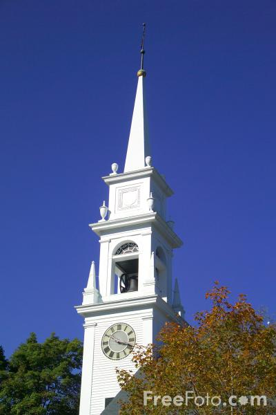 Picture of 1793 Old Meetinghouse Baptist Church, Sandwich, New Hampshire, USA - Free Pictures - FreeFoto.com