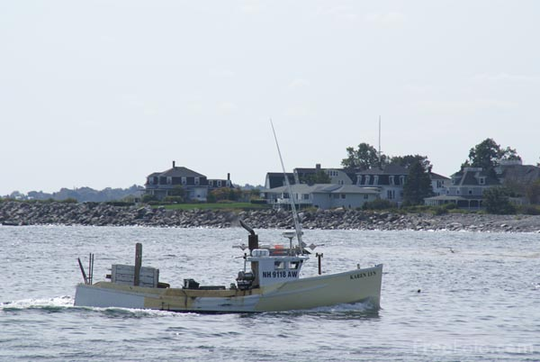 Picture of Lobster Boat, Rye Harbor, New Hampshire, USA - Free Pictures - FreeFoto.com