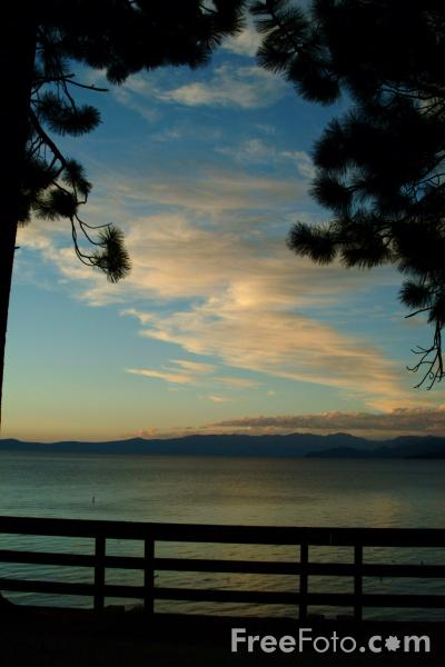 Picture of Sunset, Lake Tahoe, California , USA - Free Pictures - FreeFoto.com