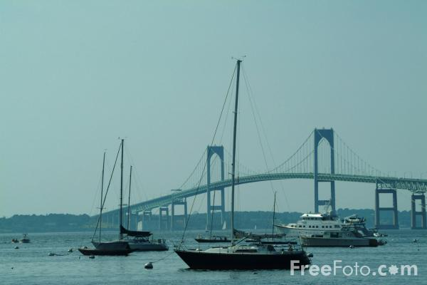 Picture of Newport Pell Bridge, Rhode Island, USA - Free Pictures - FreeFoto.com