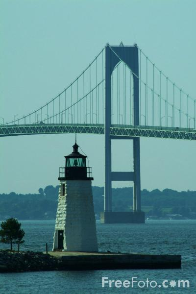 Picture of Newport Harbor Light Lighthouse, Rhode Island, USA - Free Pictures - FreeFoto.com