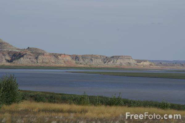 Picture of the Missouri River, Montana, USA.