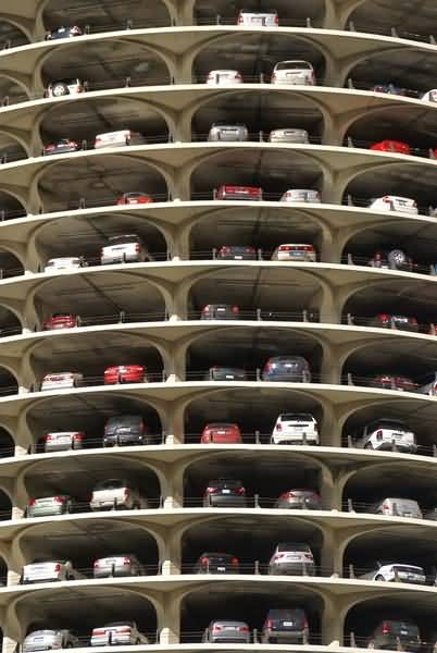 Picture of Car Park, Chicago, Illinois, USA - Free Pictures - FreeFoto.com
