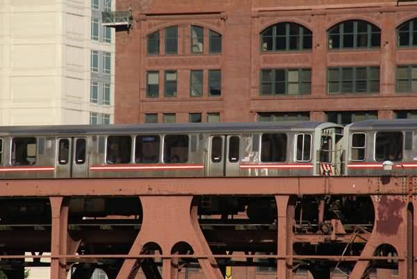 Picture of L rapid transit, Chicago, Illinois, USA - Free Pictures - FreeFoto.com