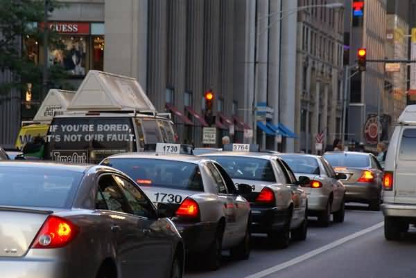Picture of Traffic, Chicago, Illinois, USA - Free Pictures - FreeFoto.com