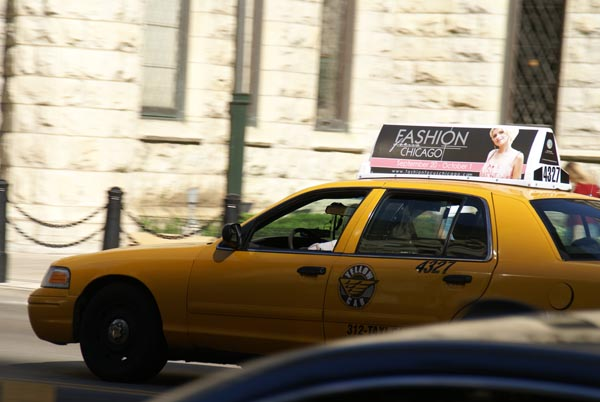 Picture of Taxi Cab, Chicago, Illinois, USA - Free Pictures - FreeFoto.com