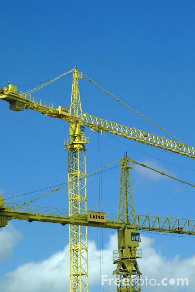 Picture of Tower Cranes - Free Pictures - FreeFoto.com